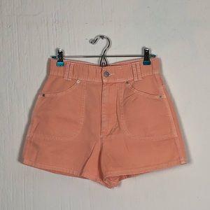 Peach Colored High Waisted Shorts